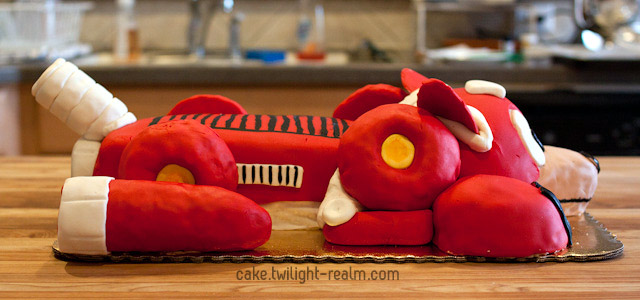 Rush Jet cake - side view
